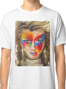 Colored Chalk Face Classic T-Shirt