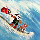 SANTA.......RIPPIN IT UP IN HAWAII by WhiteDove Studio kj gordon