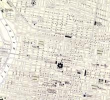 Vintage Map of Philadelphia (1885) Sticker