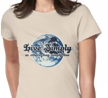 Live simply Womens Fitted T-Shirt