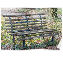 old bench in the park Poster