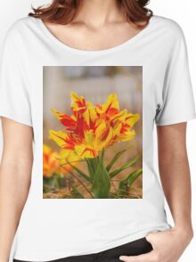 lounging Flowers Women's Relaxed Fit T-Shirt