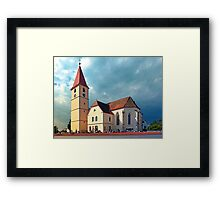 The village church of Kleinzell I | architectural photography Framed Print