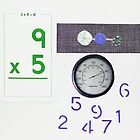 Numbers Game. Pale Purple. Green. by Jenny Davis