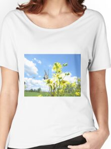 Eastern Tiger Swallowtail butterfly on wildflowers Women's Relaxed Fit T-Shirt