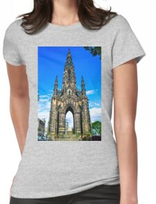 Sir Walter Scott's Monument Womens Fitted T-Shirt