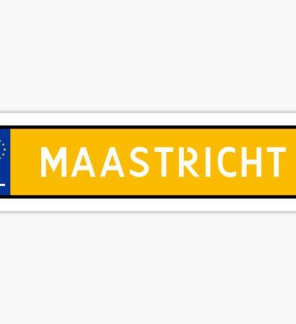 Maastricht Kenteken Sticker