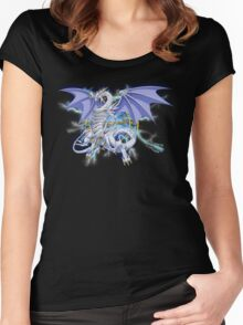 Blue-Eyes Spirit Dragon Women's Fitted Scoop T-Shirt