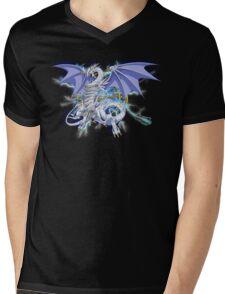 Blue-Eyes Spirit Dragon Mens V-Neck T-Shirt