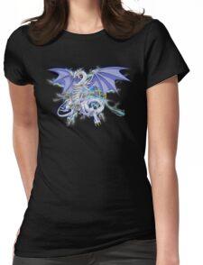 Blue-Eyes Spirit Dragon Womens Fitted T-Shirt