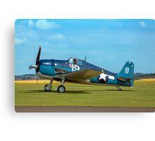 Grumman F6F-5K Hellcat 80141 G-BTCC out to grass Canvas Print