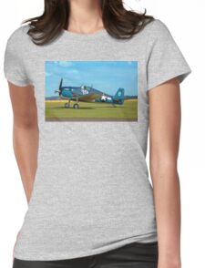 Grumman F6F-5K Hellcat 80141 G-BTCC out to grass Womens Fitted T-Shirt