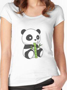Panda love! Women's Fitted Scoop T-Shirt
