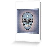 The pattern with skulls. Day of the Dead Greeting Card