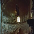Bishop's Throne Apse area S Maria Assunta 639 Torcello Venice Italy 19840730 0033 by Fred Mitchell