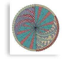 The Circus Vibe Mandala Canvas Print