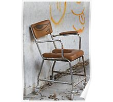 wheelchair in the hospital abandoned Poster
