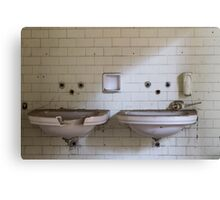 dilapidated bathrooms Canvas Print