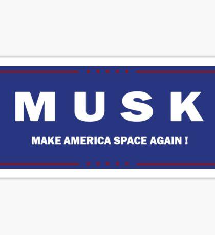 Elon Musk Presidential Campaign Sticker