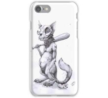Ballplayer cat with his prize iPhone Case/Skin