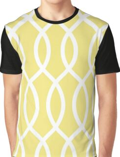 modern,trendy,yellow,white,pattern,elegant,chic,trellis,girly,contemporary pattern Graphic T-Shirt