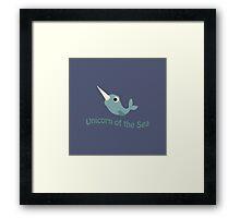 Cute Unicorn of the Sea Framed Print
