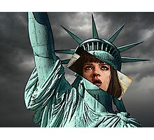 Mia Wallace Statue of Liberty Photographic Print