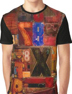 Print Blocks Graphic T-Shirt