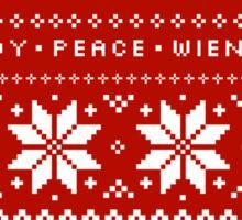 Dachshunds Christmas Sweater Pattern Sticker