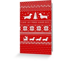 Dachshunds Christmas Sweater Pattern Greeting Card