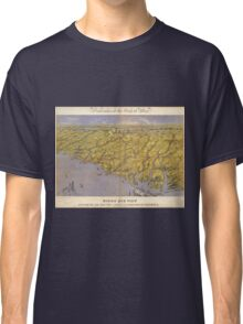 Vintage Pictorial Map of North Carolina (1861)  Classic T-Shirt