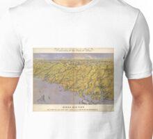 Vintage Pictorial Map of North Carolina (1861)  Unisex T-Shirt