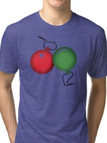 Christmas Baubles Tri-blend T-Shirt