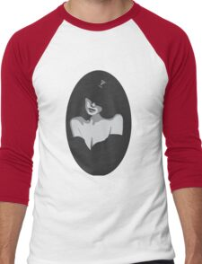 Lady In Black Men's Baseball ¾ T-Shirt