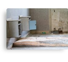 bedside in the hospital abandoned Canvas Print
