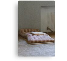 mattress in abandoned hospital Canvas Print