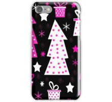 Pink Playful Xmas iPhone Case/Skin