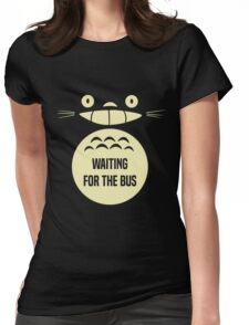 Waiting For The Bus Totoro  Womens Fitted T-Shirt