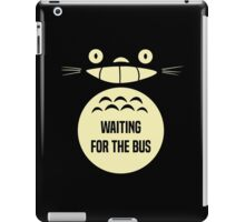 Waiting For The Bus Totoro  iPad Case/Skin
