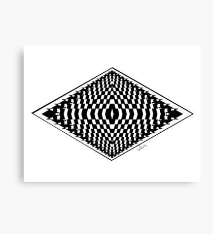 Black & White Fractal 101116 Canvas Print