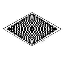 Black & White Fractal 101116 Photographic Print