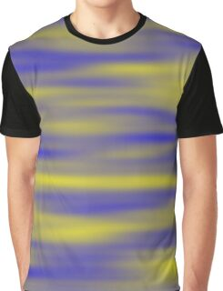 Yellow And Blue Clouds Graphic T-Shirt