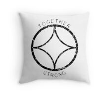 Together Strong (Black) Throw Pillow