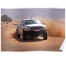 Ram Baja truck tearing through UAE desert Poster