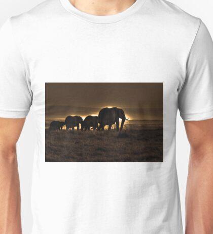 Elephant Herd On The Masai Mara Unisex T-Shirt