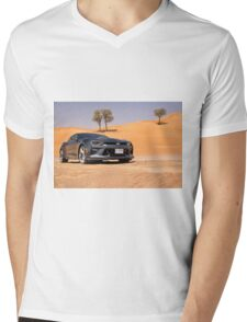 50th Anniv Chevy Camaro in the desert Mens V-Neck T-Shirt
