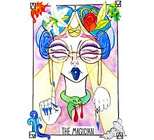 The Alien Magician Tarot Photographic Print