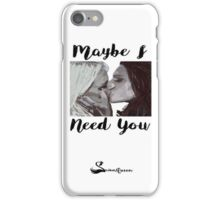 Swanqueen kiss and quote phone case iPhone Case/Skin