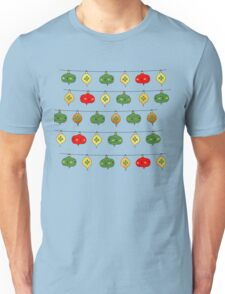 Cute Holiday Ornaments Pattern Unisex T-Shirt
