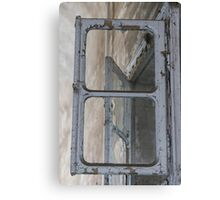 Old window with broken glass Canvas Print
